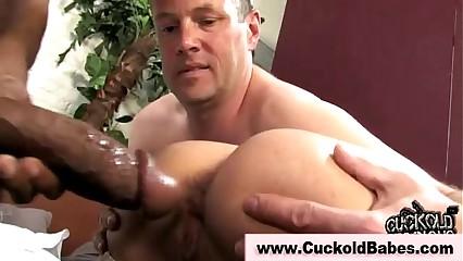Cuckold bride fucks black cock