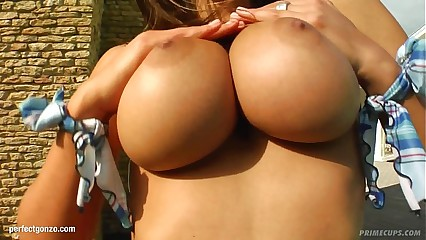 Zafira with big juicy tits fucked hard gonzo style on Prime Cups