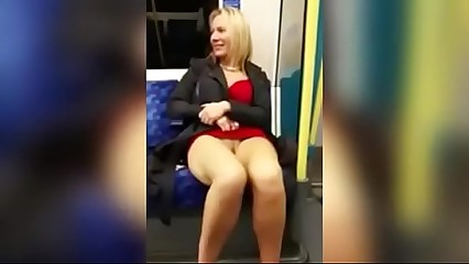 Women Exposing Her Self All Naked On A Subway