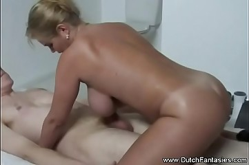 Dutch Mom Lets Son Jerk Off