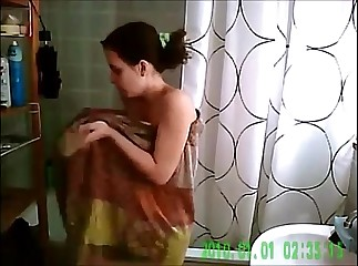 SPYING ON MY HOT NOT-MY-SIS IN THE SHOWER VOYEUR 10