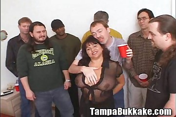 Susie's Gang Bang Bukkake Party