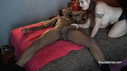 Redhead MILF gets her hole fucked by amazingly big black dick