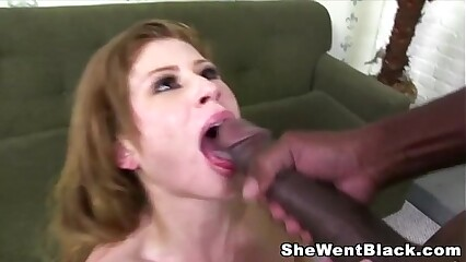 Sexy young redhead Brooklyn Lee fucked hard by Black Dick