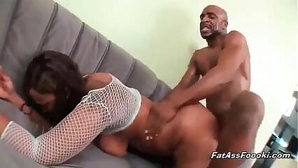 Very nasty ebony slut gets fucked hard