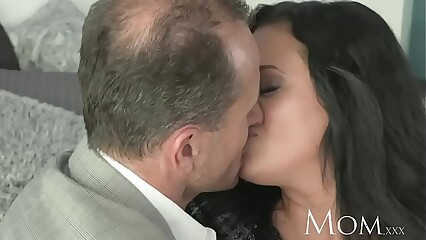 MOM Bored housewife desperately needs a man to cum inside her