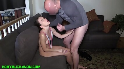 Sweet Petite Lily Glee Roughly Abused by Daddy