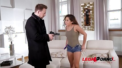 Sexy dildo collector Melody Petite gets fucked hardcore until she screams GP303