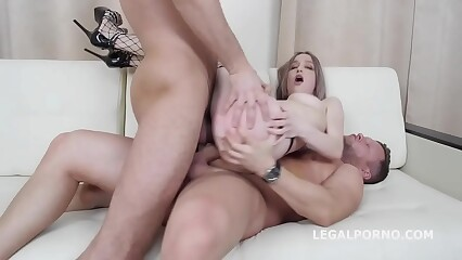 Emmi Accel First Time DP, Balls Deep Action, Gapes, Rough Sex, Cum on face GL107