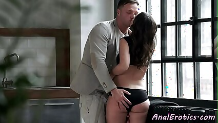 Euro beauty assfucked by big dick husband