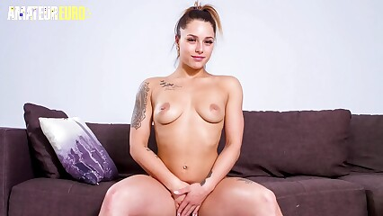 AMATEUR EURO - Cute Newbie Big Ass Teen Emily Gray Fucks Hardcore On Casting Couch