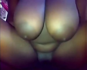 Busty Ebony Black Teen Riding