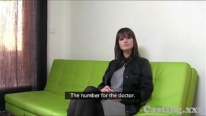 Casting HD Massive natural tits amateur in casting
