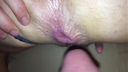 Huge dripping anal creampie