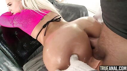 TRUE ANAL Hot blonde Bella Jane back for more anal