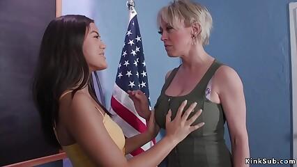 Asian schoolgirl anal fucks professor