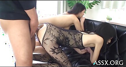 Asian cum-hole and anal fuck