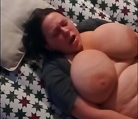 Bbw fucks herself hard with rabbit vibrator