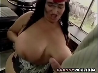 BBW Granny Gets Fucked On The Bus