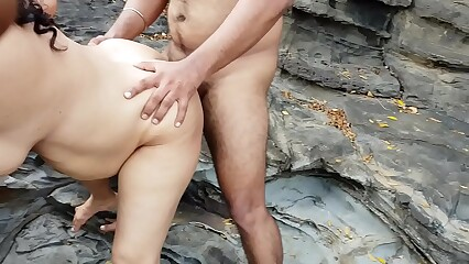 Indian housewife fucked by husband's friend on Goa Beach