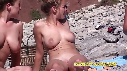 Hot Blonde Nudist Beach Babe Voyeur Spy Video