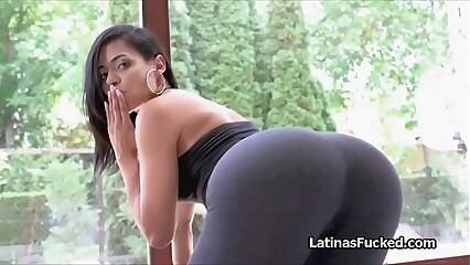 Juicy big ass Latina rides a big dick