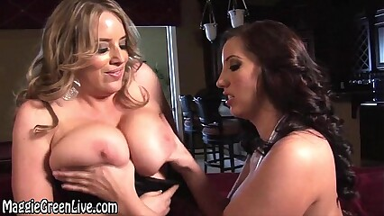 Big Tit Blonde Maggie's GF Day with Kelly Devine!
