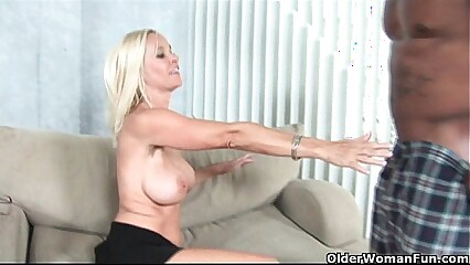 Big titted milf gets facial