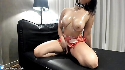 JOI Sexy Latina Big Boobs Strip Hot Oil Ass Models strip striptease solo bikini masturbate