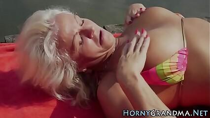 Grandma anally fucked