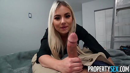 PropertySex Painter Bangs Cute Blonde Real Estate Agent
