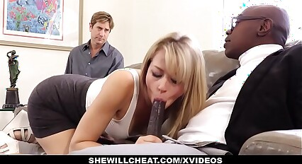 SheWillCheat - Sexy Blonde Girlfriend Fucks BBC For Cuckold Boyfriend