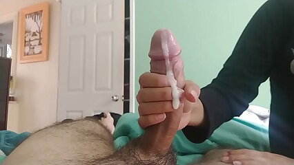 Blowjob and handjob - With beautiful girl