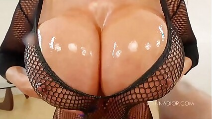 Big Tit MILF Kianna Dior Fishnet POV Blowjob