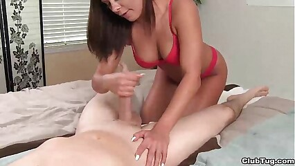 clubtug-Super hot brunette blowjob