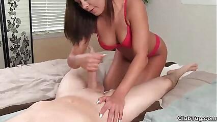 clubtug-Super hot brunette blowjob