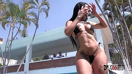Axxxteca: Brazilian bitch gets penetarted hard in ass and pussy by mexican dicks!! Elisa Sanches