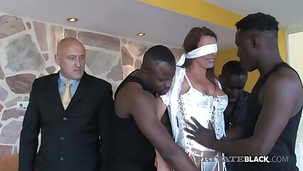 PrivateBlack - Swiss Milf Caroline Tosca Dicked by 3 BBCs!