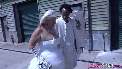 Bride grandmother sucks and rides bbc