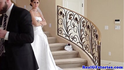 Stunning bride facialized by her Photographer