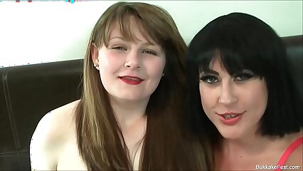 First Bukkake Scene Isla Skye and Tyla Moore