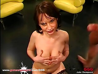 German Goo Girls - Cum Swallowing whore loves Anal