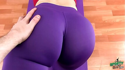 Huge MASSIVE Ass Latina Working Out In Tight Spandex