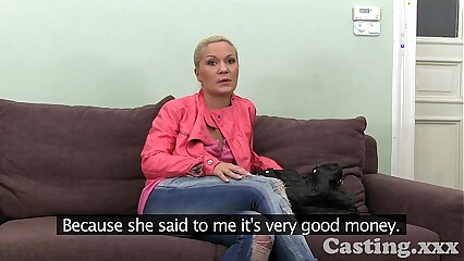 Casting HD Mature amateur takes frantic facial