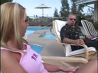 Two young sluts are pretty fucked by experienced cocks
