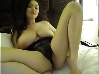 Chubby big boobs pussy fingering