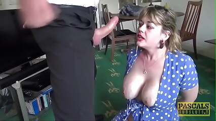Chubby chick is bound, gagged and fucked