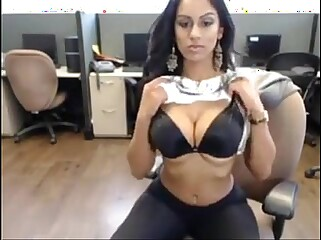 My secretary shows me her big boobs after work