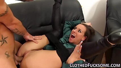 Sucking glam slut spunked