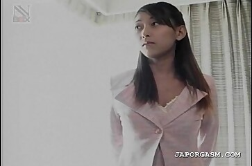 Delicate sweet asian takes off clothes for sex